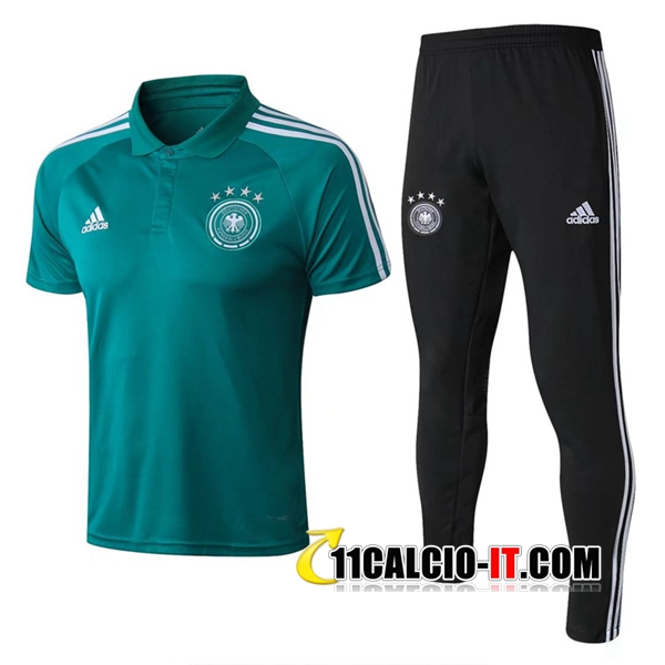 Maglia Polo Germania Vert 2018/2019 + Pantaloni | 11calcio-it