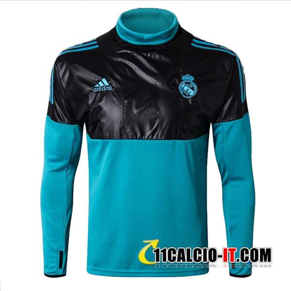Felpa da training Real Madrid Nero/Blu 2017-2018 | 11calcio-it