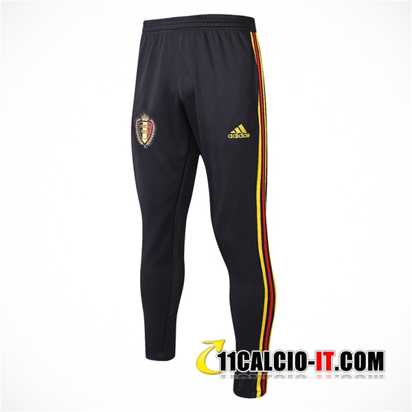 Pantaloni da training Belgio Nero 2018-2019 | 11calcio-it