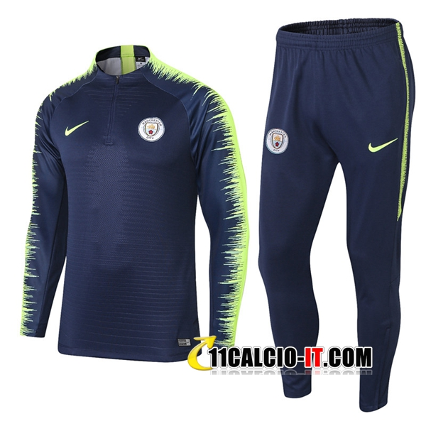 Tuta Calcio Manchester City Blu scuro/Verde 2018-2019 | 11calcio-it