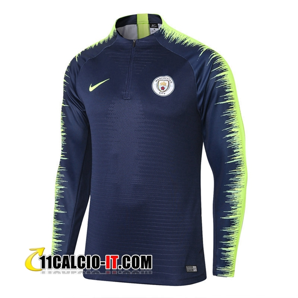 Felpa da training Manchester City Blu scuro/Verde 2018-2019 | 11calcio-it