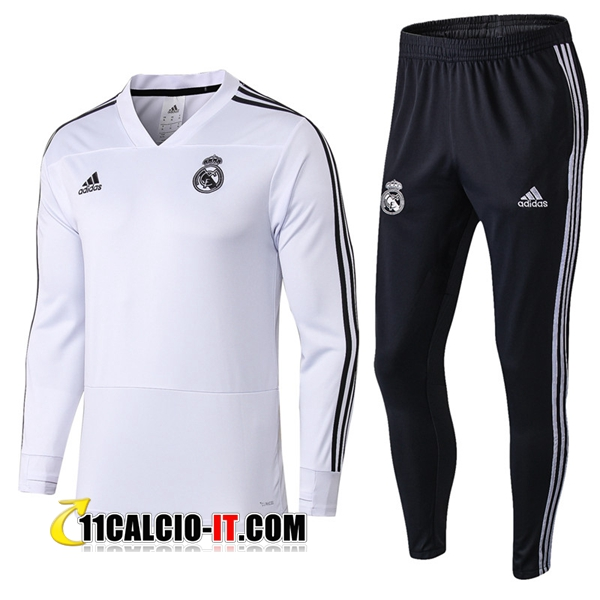 Tuta Calcio Real Madrid Bianco 2018-2019 | 11calcio-it