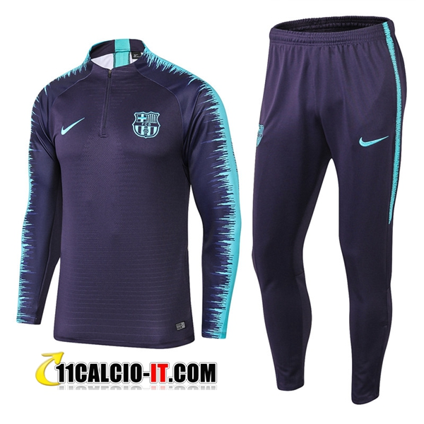 Tuta Calcio FC Barcellona Nero/Blu 2018-2019 | 11calcio-it