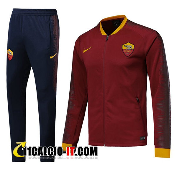 Tuta Calcio - Giacca AS Roma Bordeaux 2018-2019 | 11calcio-it