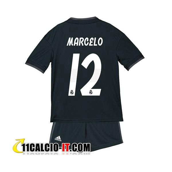 Nuova Seconda Maglia Real Madrid (12 MARCELO) Bambino 2018/19 ...