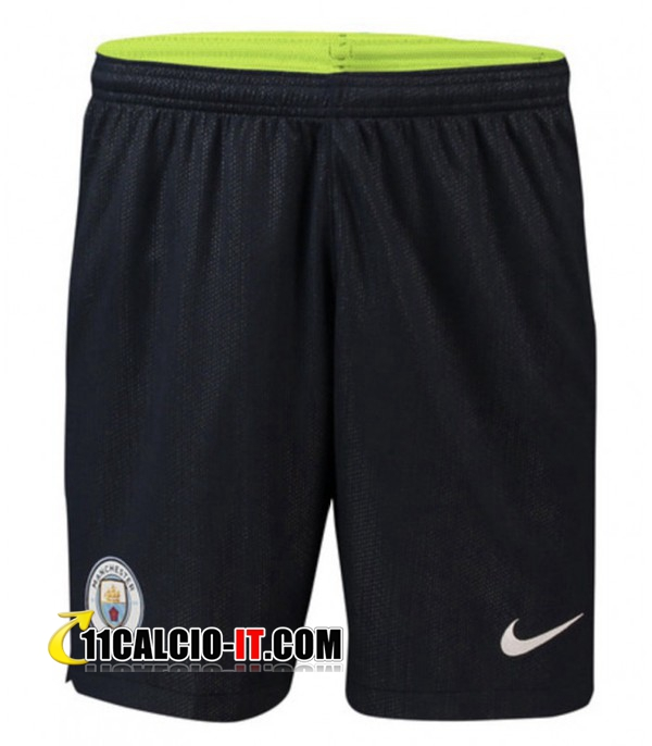 Seconda Pantaloncini Calcio Manchester City 2018-19 | 11calcio-it