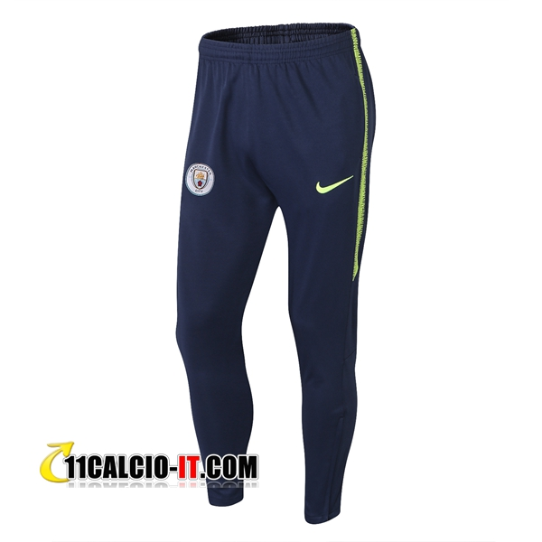 Pantaloni da training Manchester City Blu scuro 2018-2019 | 11calcio-it