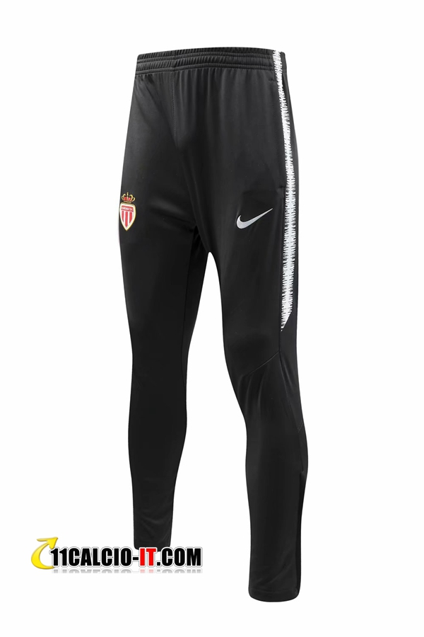Pantaloni da training AS Monaco Nero 2018-2019 | 11calcio-it