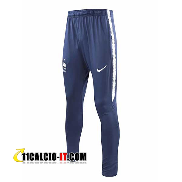 Pantaloni da training Francia 2 stelle Blu scuro 2018-2019 | 11calcio-it