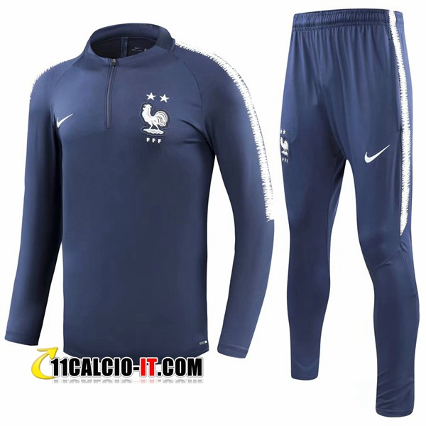 Tuta Calcio Francia 2 stelle Blu scuro 2018-2019 | 11calcio-it