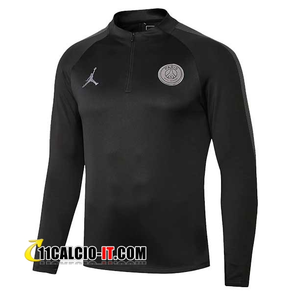 Felpa da training Jordan PSG Nero 2018-2019 | 11calcio-it