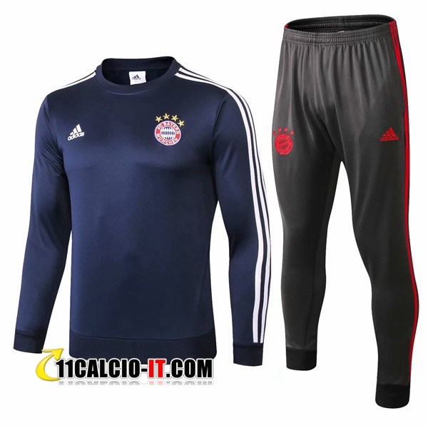 Tuta Calcio Bayern Monaco Blu scuro 2018-2019 | 11calcio-it