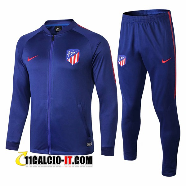 Tuta Calcio - Giacca Atletico Madrid Blu 2018-2019 | 11calcio-it