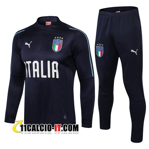 Tuta Calcio Italia Blu scuro 2018-2019 | 11calcio-it