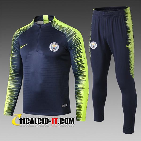Nuove Tuta Calcio Manchester City Bambino Nero/Verde Strike Drill ...