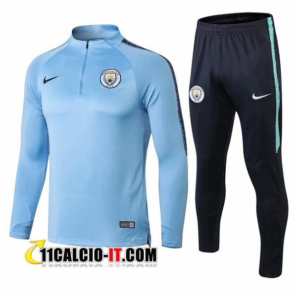 Tuta Calcio Manchester City Blu 2018-2019 | 11calcio-it