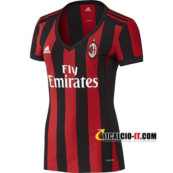 Nuove Prima Maglia AC Milan Donna 2017/18 | personalizzare
