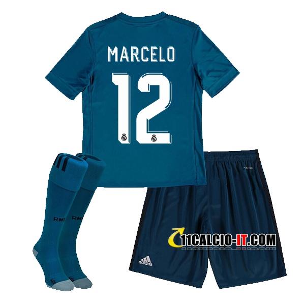 Nuove Terza Maglia Real Madrid (MARCELO 12) Bambino 2017/18 ...