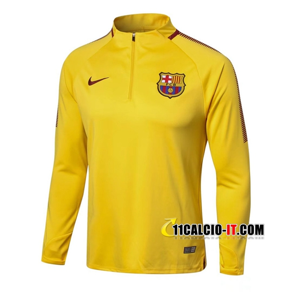 Felpa da Training FC Barcellona Giallo 2017-18 | 11calcio-it