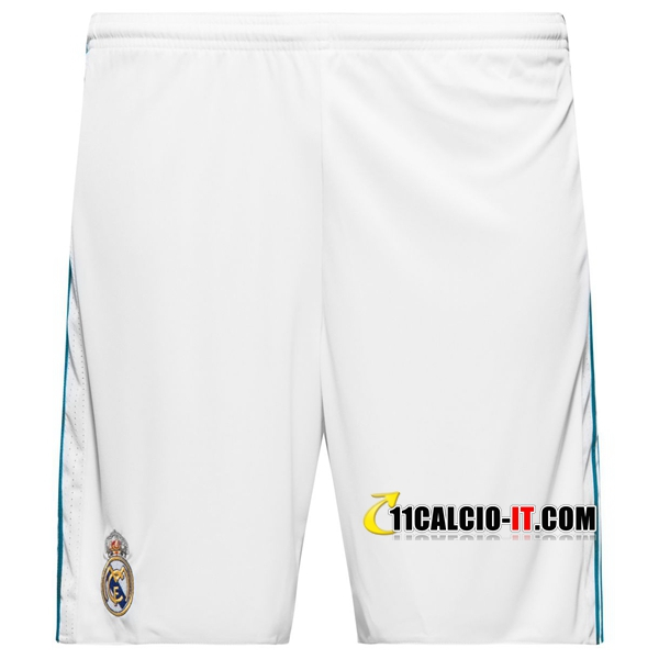 Pantaloncini Calcio Real Madrid Bianco 2017-18 Prima | 11calcio-it