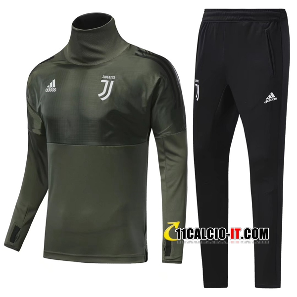 Champions Tuta Calcio Juventus Army Green Collo alto 2017-18 | 11calcio-it