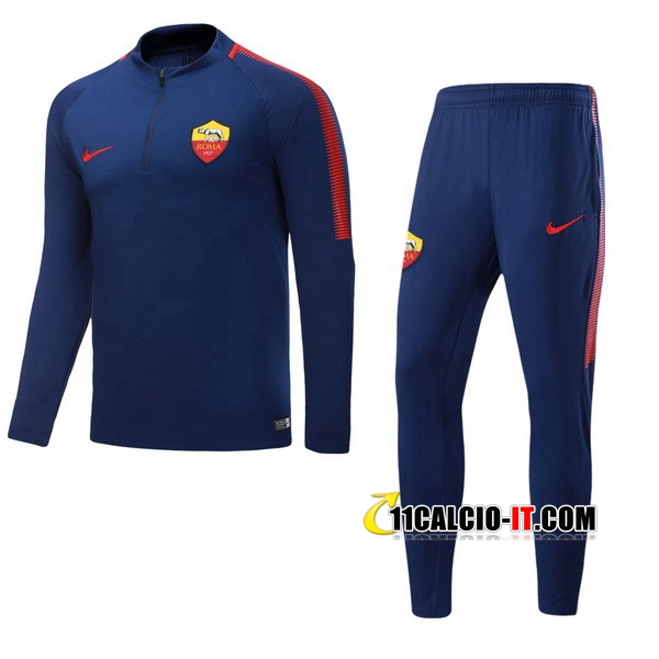 Tuta Calcio AS Roma Blu Navy 2017-18 | 11calcio-it