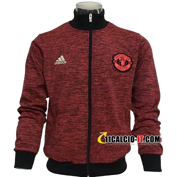 Giacca Calcio Manchester United Marrone/Nero 2017-18 | 11calcio-it