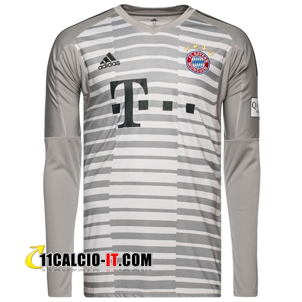 Nuove Maglia Calcio Portiere Bayern Monaco Grigio 2018/19   Tailandia