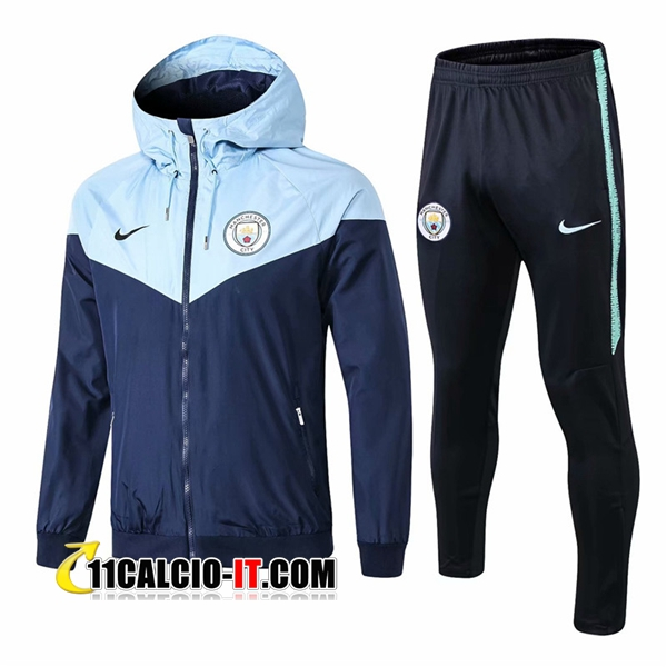 Tuta Giacca a Vento Manchester City Blu scuro 2018-2019 | 11calcio-it