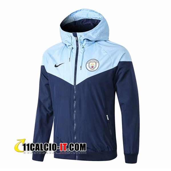 Giacca a vento Manchester City Blu scuro 2018-2019 | 11calcio-it