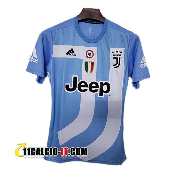 Nuove Maglia Calcio Juventus Edizione Commemorativa Blu Chiaro ...