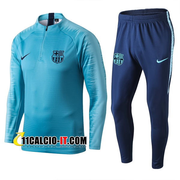 Tuta Calcio FC Barcellona Blu Strike Drill 2019-2020 | 11calcio-it
