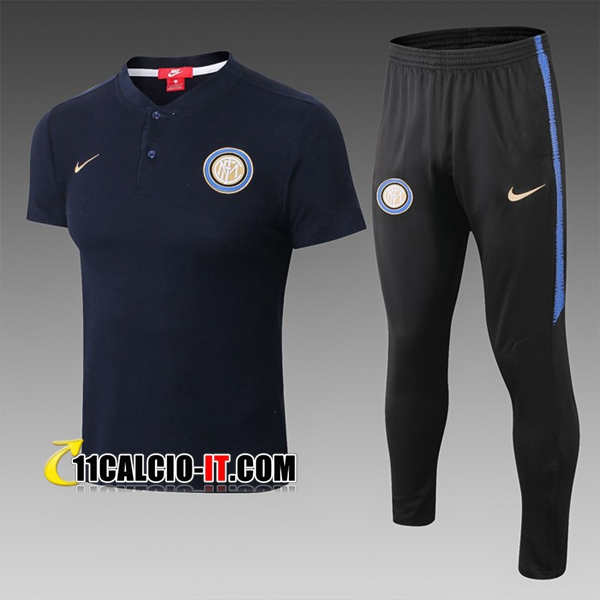 Maglia Polo Inter Milan + Pantaloni Blu scuro 2019-2020 | 11calcio-it