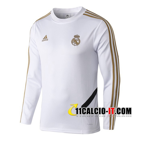 Felpa da Training Real Madrid Bianco 2019-2020