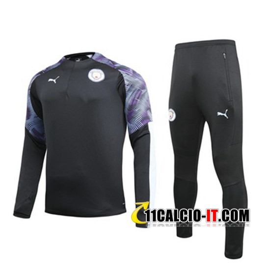 Tuta Calcio Manchester City Nero Porpora 2019-2020 | 11calcio-it