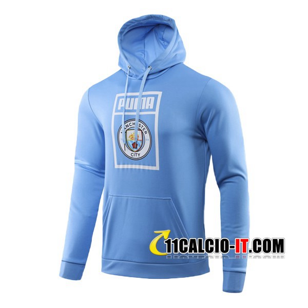 Felpa con cappuccio Manchester City Blu 2019-2020 | 11calcio-it