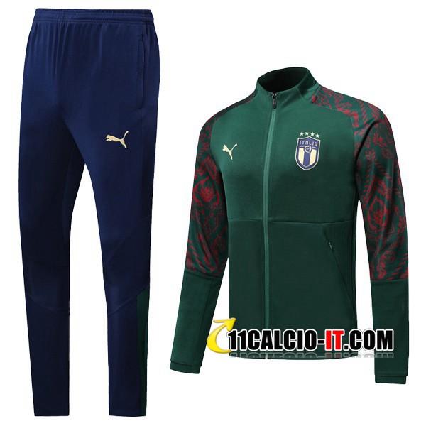 Nuove Tuta Calcio - Giacca Italia Verde 2019/20   Tailandia