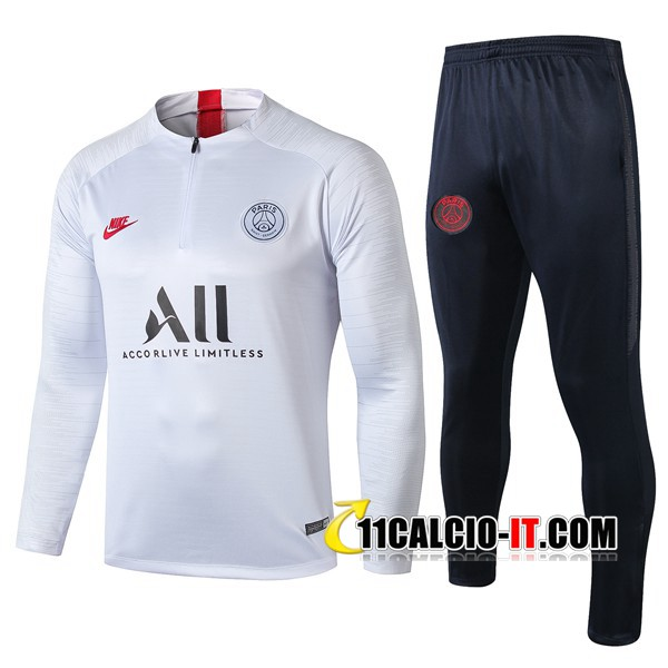 Tuta Calcio Paris PSG ALL Bianco 2019-2020 | 11calcio-it