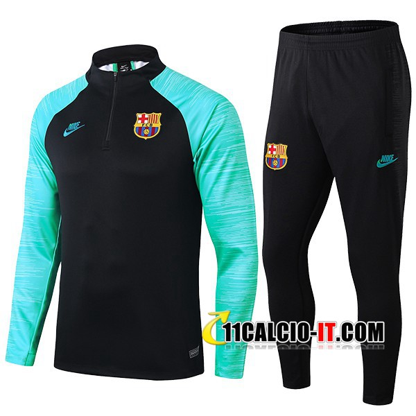 Tuta Calcio FC Barcellona Beko Verde Nero 2019-2020 | 11calcio-it