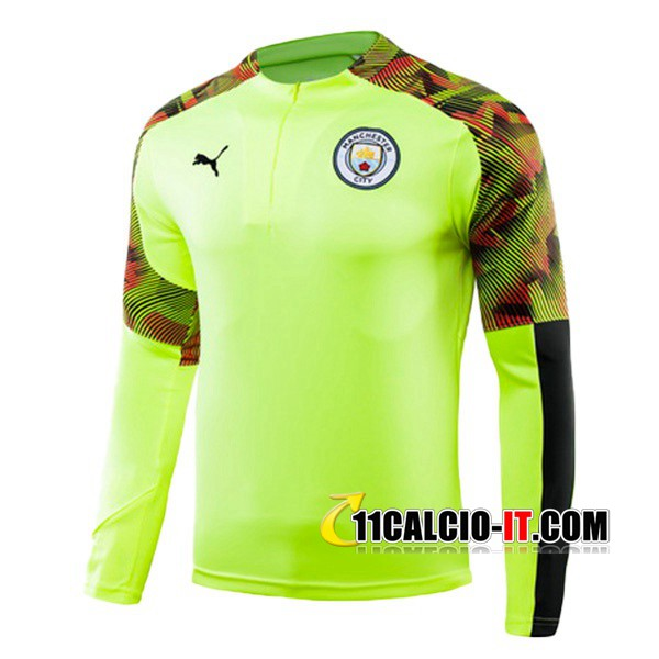 Felpa da training Manchester City Verde 2019-2020 | 11calcio-it