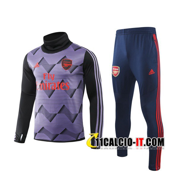 Tuta Calcio Arsenal Porpora Collo Alto 2019-2020 | 11calcio-it