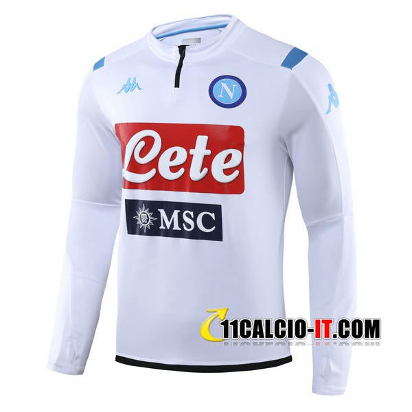 Felpa da training SSC Napoli Bianco 2019-2020 | 11calcio-it
