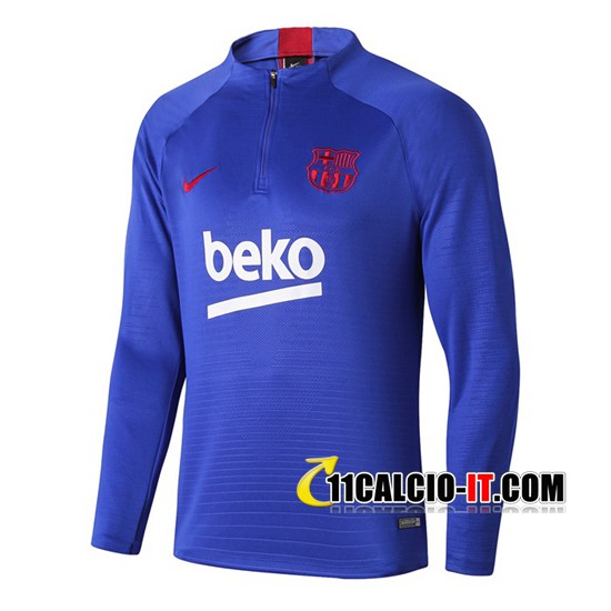 Felpa da training FC Barcellona Beko Blu 2019-2020 | 11calcio-it