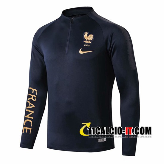 Felpa da training Francia Blu Scuro 2019-2020 | 11calcio-it