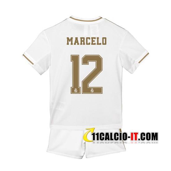 Nuove Maglia Calcio Real Madrid (Marcelo 12) Bambino Prima 2019/20 ...
