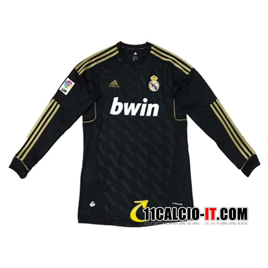 Maglia Calcio Real Madrid Maniche lunghe Seconda 2011/2012