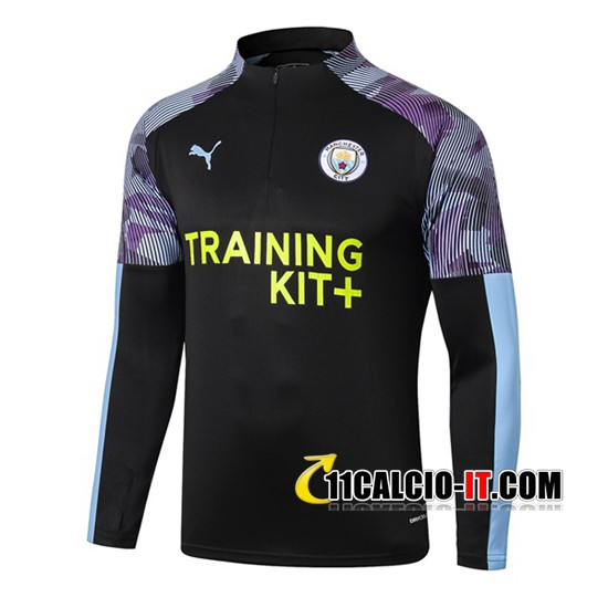Felpa da training Manchester City Blu Nero 2019-2020 | 11calcio-it