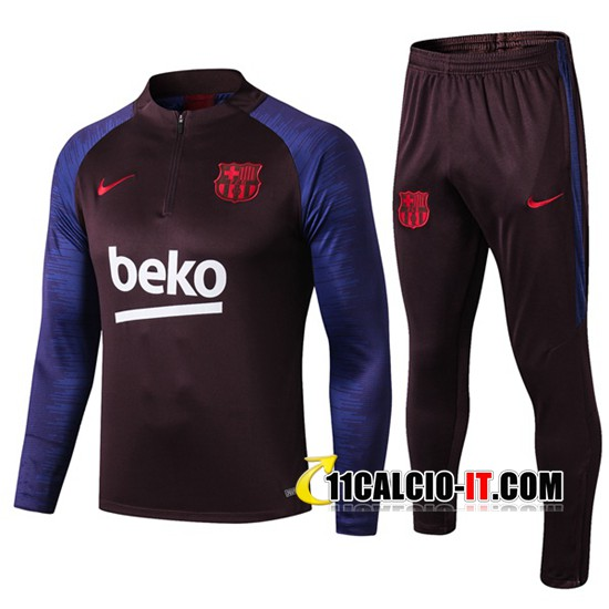 Tuta Calcio FC Barcellona Porpora/Blu 2019-2020 | 11calcio-it