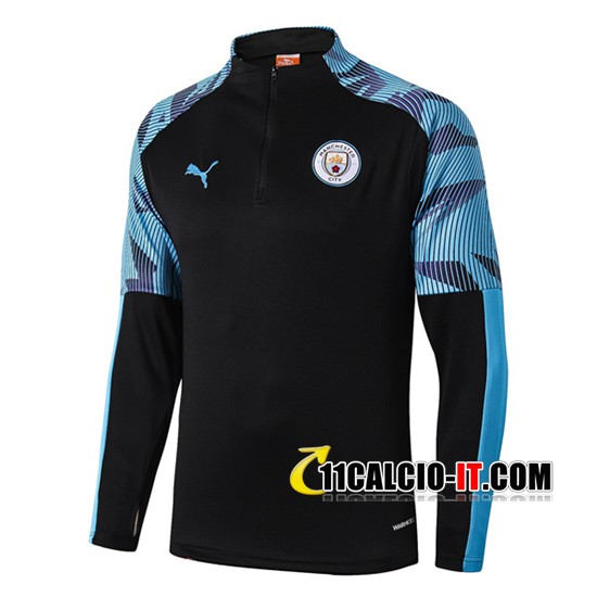 Felpa da training Manchester City Nero/Blu 2019-2020 | 11calcio-it