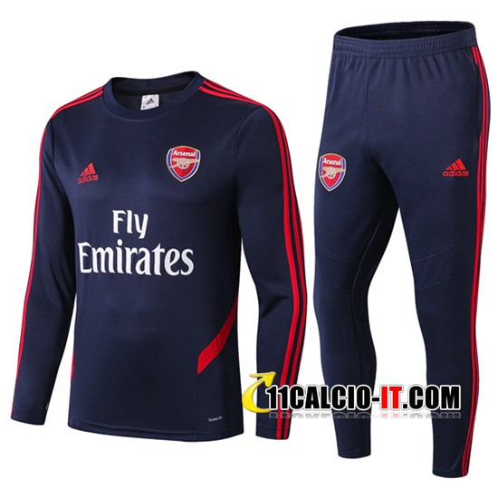 Tuta Calcio Arsenal Colletto Tondo Blu Scuro 2019-2020 | 11calcio-it